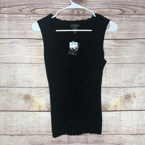 Cable & Gauge - Black Beaded Sleeveless Top